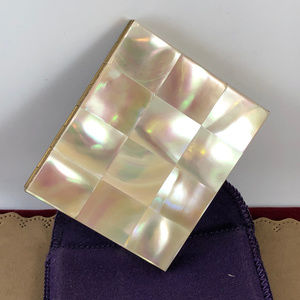 Vintage Marhill Mother of Pearl Gold Tone  Compact